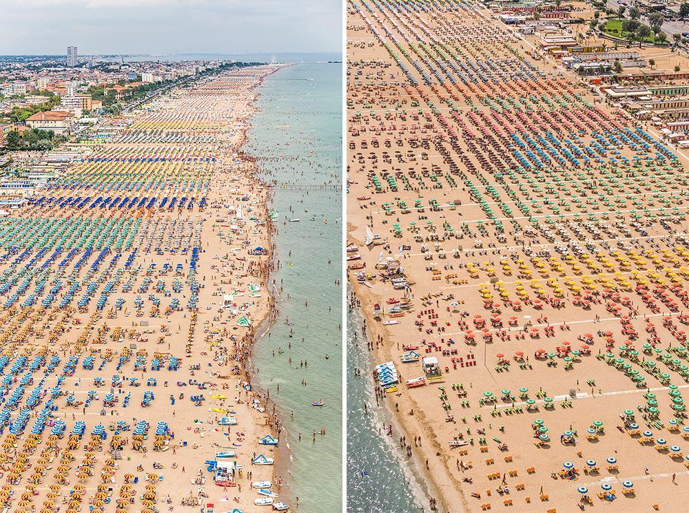 Muhteşem Sahilin Rengarenk Şemsiyeleri