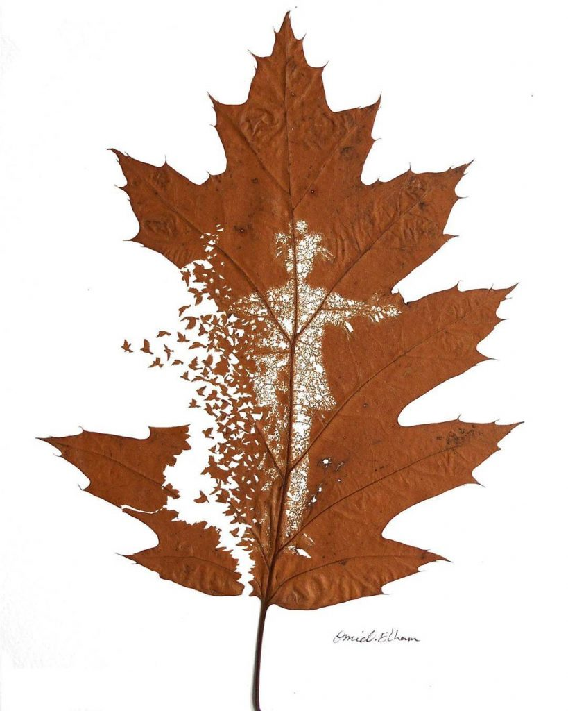 yaprak oyma sanatı