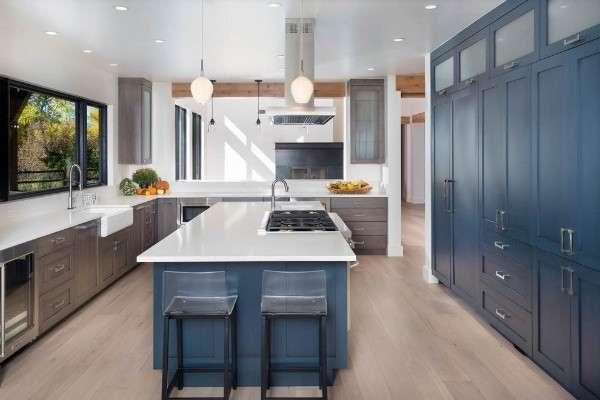 küçük mutfaklar için modern mutfak dolapları