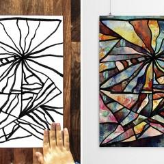 3 Yaşındaki Oğlu ile Beraber Modern Sanat Yapan Baba