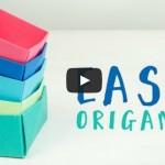 Origami ile Kolay Hediye Kutusu Yapımı