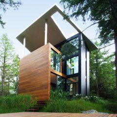 Tasarım Harikası Modern Tripleks Orman Evi