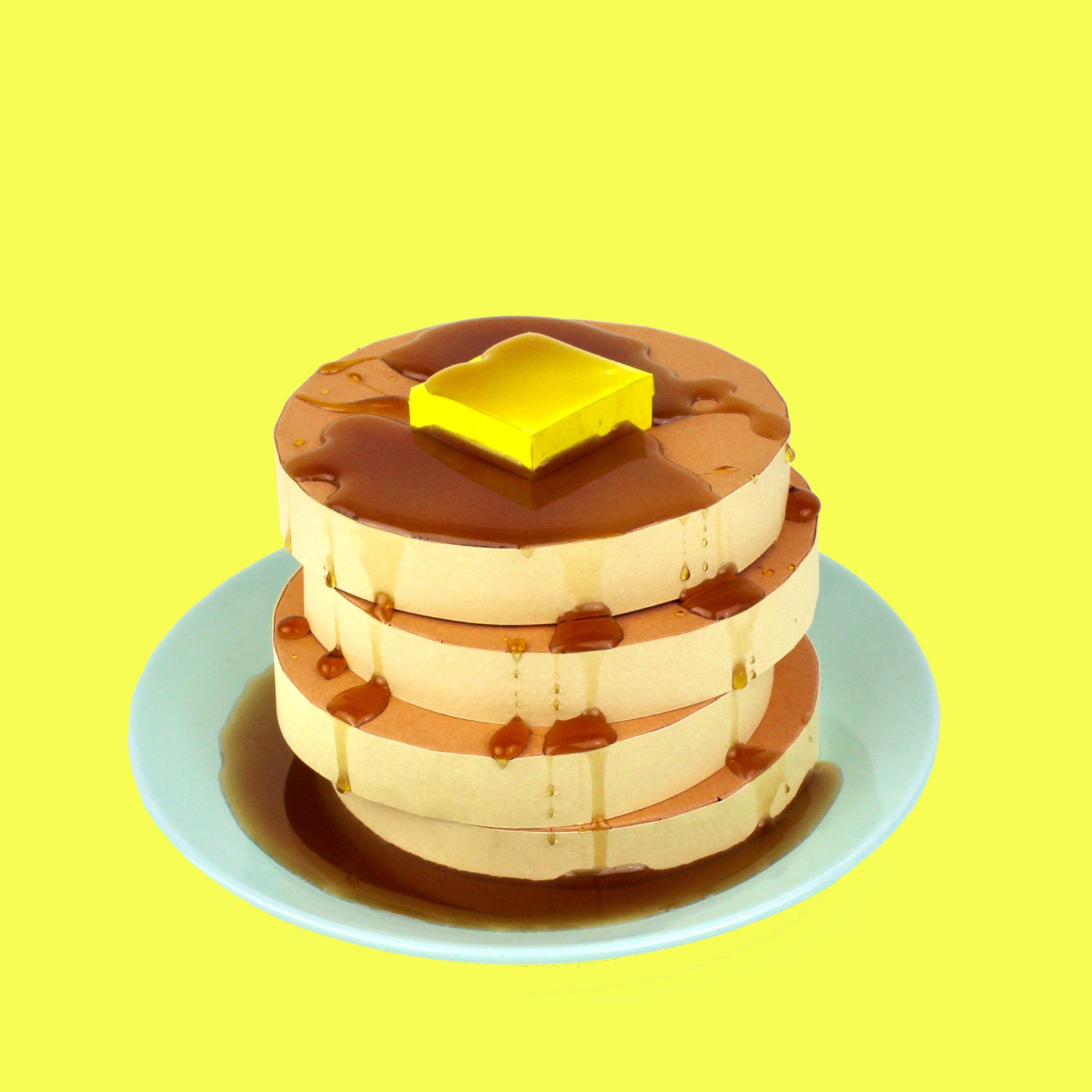 Pancake karton tasarım iştah açıcı
